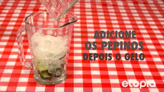 Refrescante limonada com pepino - Video