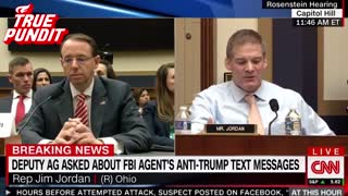 Jim Jordan Grills Rosenstein Over Dossier, Agent Strzok - Video