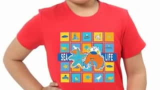 Red Colour Soft Cotton Tee Shirts - Video