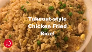 Takeout-style chicken fried rice recipe - Video