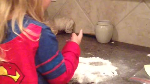 Little Girl Reacts To The Elf On The Shelf's Snow Angel Mess