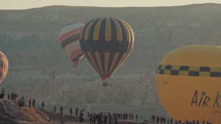 Watching Hot-Air Balloons Up In The Sky