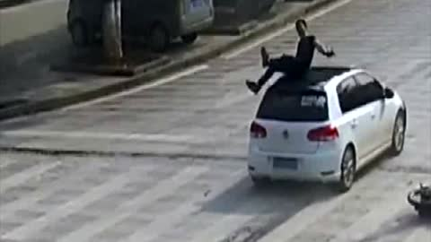 Fearless Cop Catches Woman Jumping From 3-Floor Window