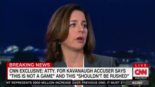 CNN's Anderson Cooper Presses Kavanaugh's Accuser About Trying To Delay Testimony