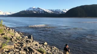 Catching a Tidal Bore on Camera in Alaska