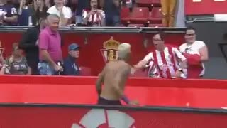 VIDEO: Neymar giving his shirt to a disabled kid. What a legend. - Video
