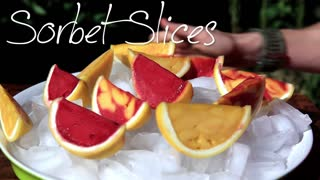 Grapefruit Sorbet Slices - Fun DIY - Video