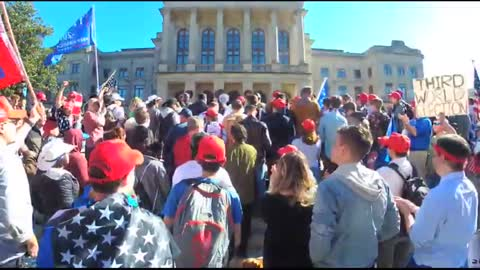 """GA - #stopthesteal protest breaks out into chants of """"Christ is King"""""""