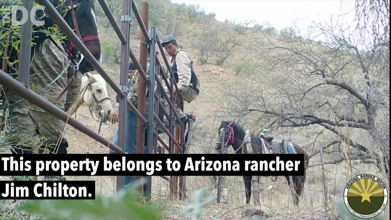 Michael Berry - Illegal immigrants caught crossing over at Chilton Ranch, Arizona