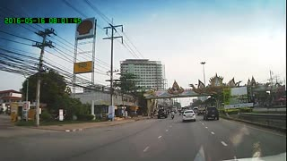 Drunk Man Causes Accident in Thailand - Video