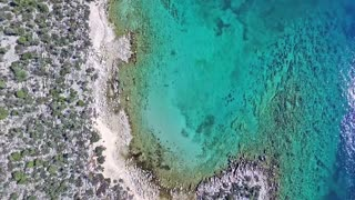 Drone captures submerged ancient city in Greece