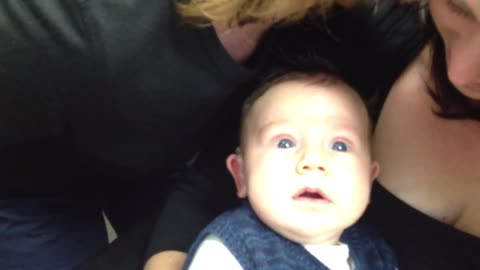 Baby Hears Parents For The First Time