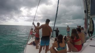 Sailing the water of belize