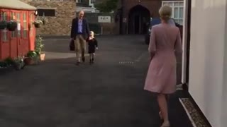 Prince George, accompanied by Prince William, adorably attends first day of school - Video