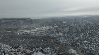 Snow at the overlook White Rock NM