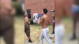 Gay Guy Throws Hands With A Transgendered Woman! - Video