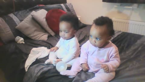 8 month twin is always camera ready