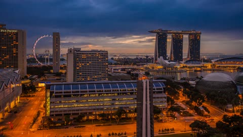 Three days in Singapore captured in 4K time lapse