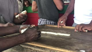 Jamaican Dominoes with Chef Darren and friends