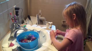 Little Girl Uses Mom's Panty Liners To Play Doctor - Video
