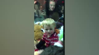 Little Boy Beats The Claw Game By Getting Inside - Video