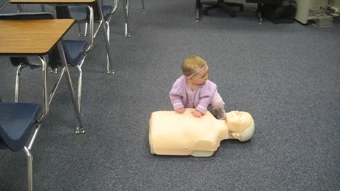 Baby Demonstrates How To Do CPR