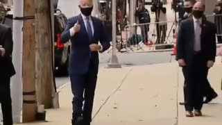 Biden gets the boot .... is this another ankle monitor?