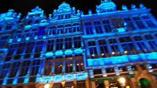 Beautiful Bruxelles Lights Show!!! Fantastic!!!