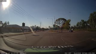 Cyclist's Lucky Day