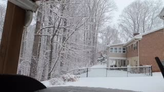 Time lapse of snow fall over night