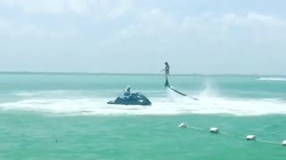 Collab copyright protection - water foot jetpack red shorts fail - Video