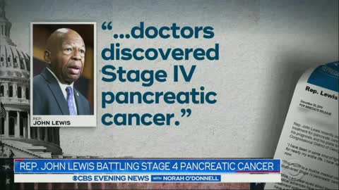 CBS Shows Cummings Face During John Lewis Cancer Story