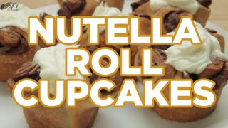 How to Make Nutella Roll Cupcakes - Full Video Recipe - Video