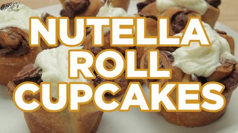 How to Make Nutella Roll Cupcakes - Full Video Recipe