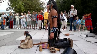 Peruvian Artist Alexandro Querevalú Performs The Last Of The Mohicans - Video