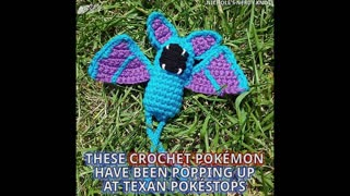 Woman Leaves Surprise Crochet Pokemon At Pokestops - Video