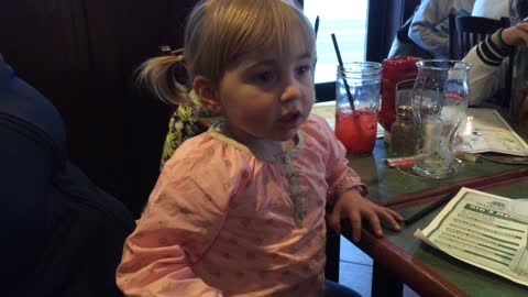 Toddler's stolen cup and plate