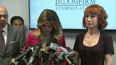 Kathy Griffin News Conference About Picture Of Her Holding The Head