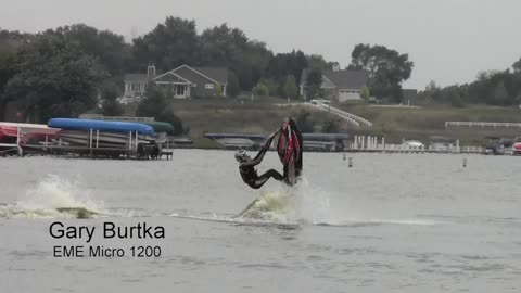 Man completes 2 consecutive backflips on a jet ski