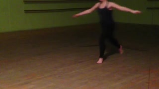 Dancing girl jumps, slips, and falls on her face