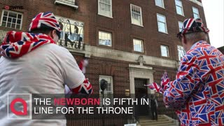 Crowds gather as Kate due to have her third child with Prince William - Video