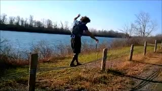 Collab copyright protection - riverside fence walking fail