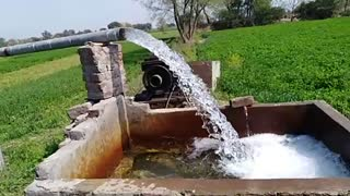 Water motor in village beautiful to watch
