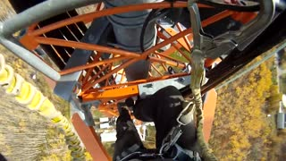 Insane POV footage of worker's tower climb will weaken your knees