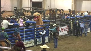T-Rex Cowboy at Halloween Rodeo - Video