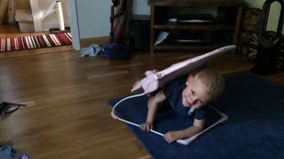 2 year old fails hilariously at hide and seek  - Video