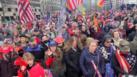 The crowds are already enormous in Washington, D.C. 01/05/2021
