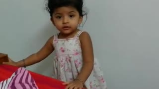 2 year old Darika arguing with mom  - Video