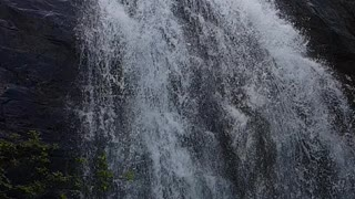 Water fall in slow motion