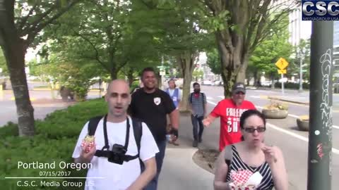 AntiFa Gets Trolled By Trump Supporters As They Try To Do Their J15 Impeach Trump-Pence In Portland